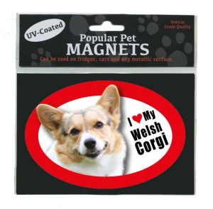 I Love My Welsh Corgi - Oval Magnet-0