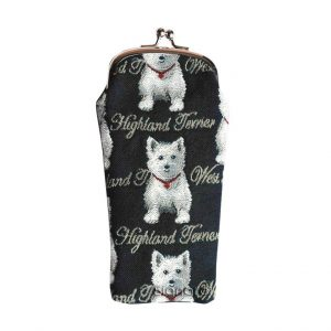 West Highland Terrier Glasses Pouch-0