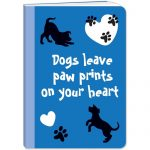 Dogs Leave Paw Prints Note Book-0