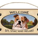 Bulldog- Welcome Hanging Sign-0