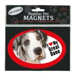 I Love My Great Dane – Oval Magnet-0