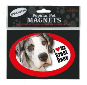 I Love My Great Dane - Oval Magnet-0