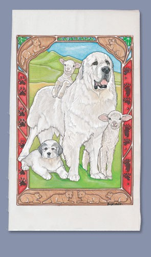 Great Pyrenees Kitchen Tea Towel-0