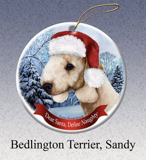 Bedlington Terrier Xmas Tree Decoration-0