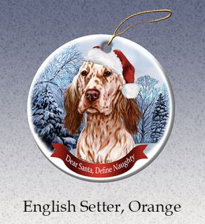 English Setter Xmas Tree Decoration-0