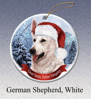 White Swiss Shepherd Xmas Tree Decoration-0