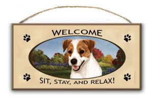 Jack Russell - Welcome Hanging Sign-0