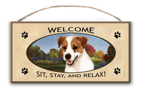 Jack Russell – Welcome Hanging Sign-0