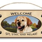Labrador (Yellow ) - Welcome Hanging Sign-0
