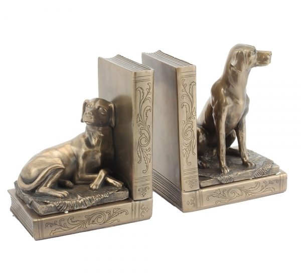 Labrador Bronzed Bookends-0