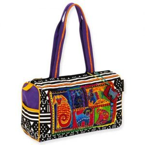 Laurel Burch Dog Patchwork Satchel-0