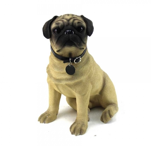 Large Pug Sitting figurine-0