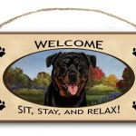 Rottweiler - Welcome Hanging Sign-0