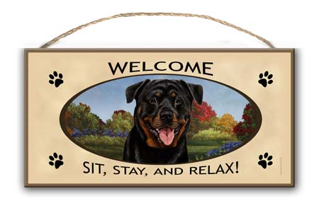 Rottweiler – Welcome Hanging Sign-0