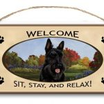 Scottish Terrier – Welcome Hanging Sign-0