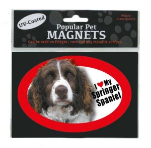 I Love My English Springer Spaniel - Oval Magnet-0