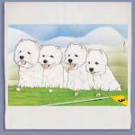West Highland Terrier Kitchen Tea Towel-0