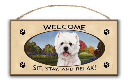 West Highland Terrier – Welcome Hanging Sign-0