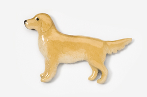 Golden Retriever Hand Painted pin-5363