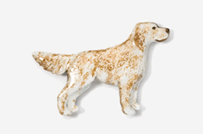 English Setter – Hand Painted Pin-5355