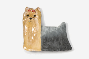 Yorkshire Terrier Hand Painted Pin-5388