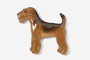 Airedale Hand Painted Pin-5341