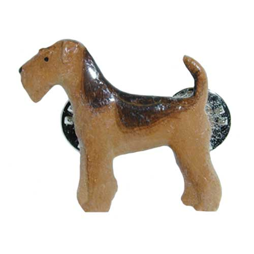 Airedale Hand Painted Pin-0