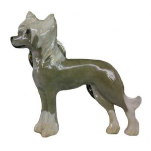 Chinese Crested Dog Hand Painted Pin-0