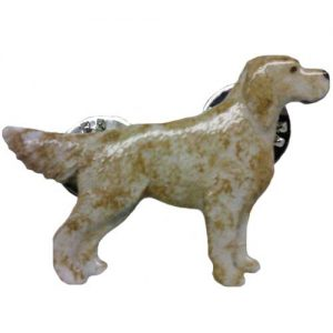 English Setter - Hand Painted Pin-0