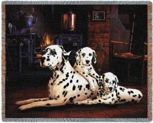 Dalmatian Tapestry Throw-0