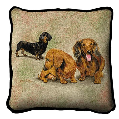 Dachshund Puppies Tapestry Cushion Cover-0
