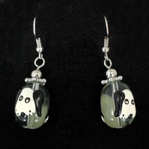 Dog Glass Bead earrings-0