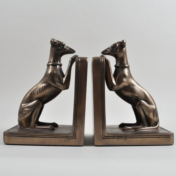 Greyhounds Cold Cast Bronze Bookends-0