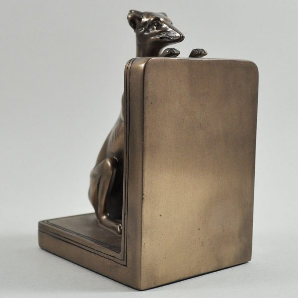 Greyhounds Cold Cast Bronze Bookends-5509