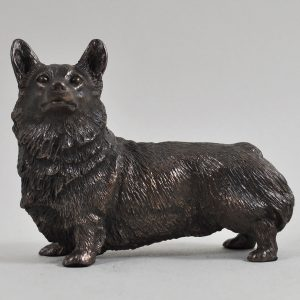 Welsh Corgi -Cold Cast Bronze-0