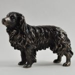 Border Collie- Cold Cast Bronze (standing)-0