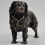 Border Collie- Cold Cast Bronze (standing)-5519
