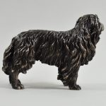 Border Collie- Cold Cast Bronze (standing)-5518