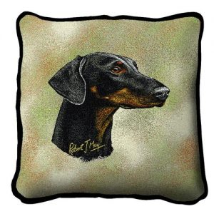 Doberman Tapestry Cushion Cover-0