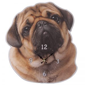 Pug Shaped Picture Clock-0