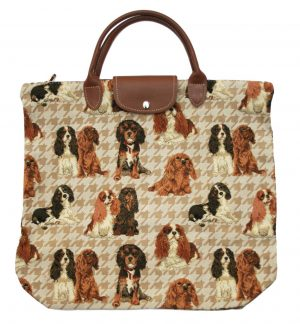Cavalier King Charles Spaniel Tapestry Foldaway Shopping Bag-0