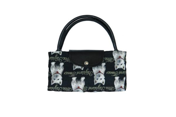 West Highland Terrier Tapestry Foldaway Shopping Bag-5647
