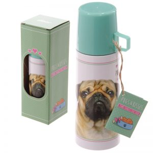Pug Stainless Steel Flask-0
