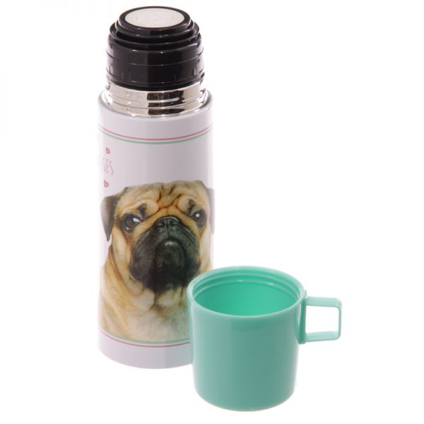 Pug Stainless Steel Flask-5689