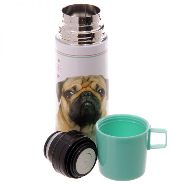 Pug Stainless Steel Flask-5688
