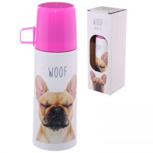 French Bulldog Stainless Steel Flask-0
