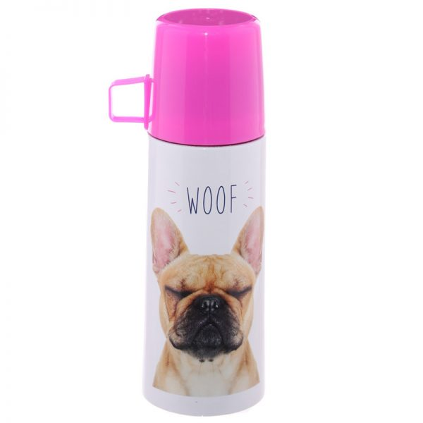 French Bulldog Stainless Steel Flask-5695