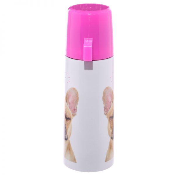 French Bulldog Stainless Steel Flask-5696
