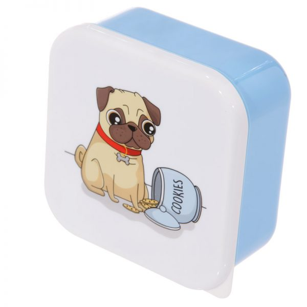 Pug Set of 3 Lunch Boxes-5720