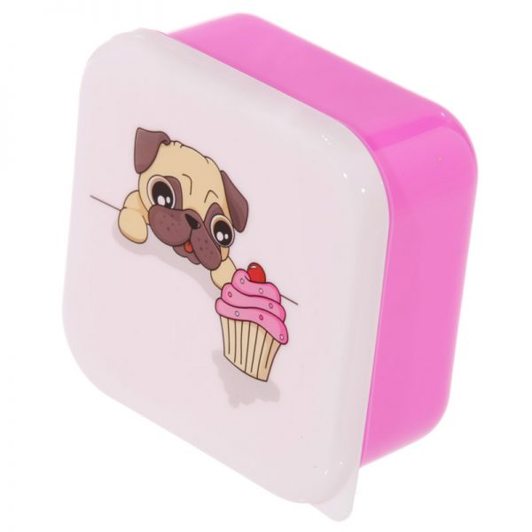 Pug Set of 3 Lunch Boxes-5717